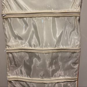 Storage & Organization - Vintage Accessories Holder Vinyl Plaid Pockets Zip